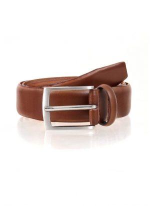 Dents Plain Leather Belt-0