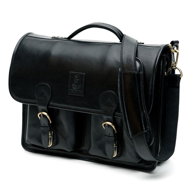 Herring Aldgate Leather Briefcase Bag-0