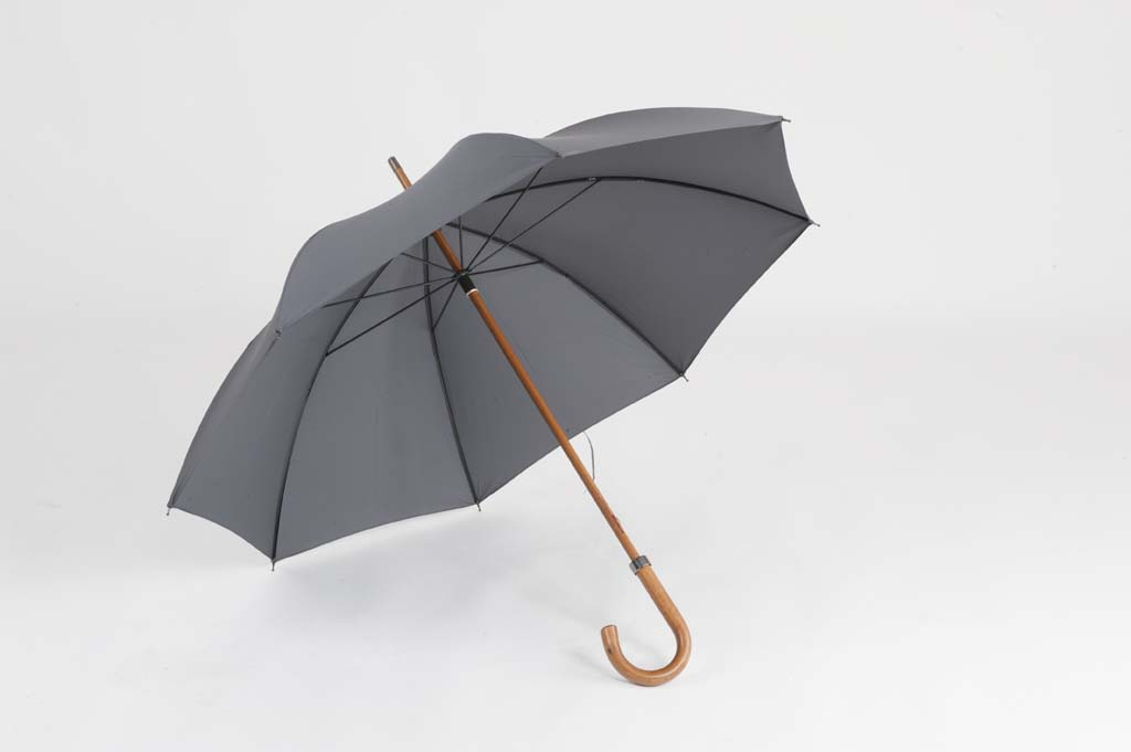 Ince & Sons Gentlemans Wooden Shaft Umbrella-0