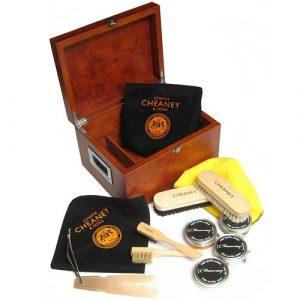 Joseph Cheaney Premium Wooden Valet Shoe Care Box-0