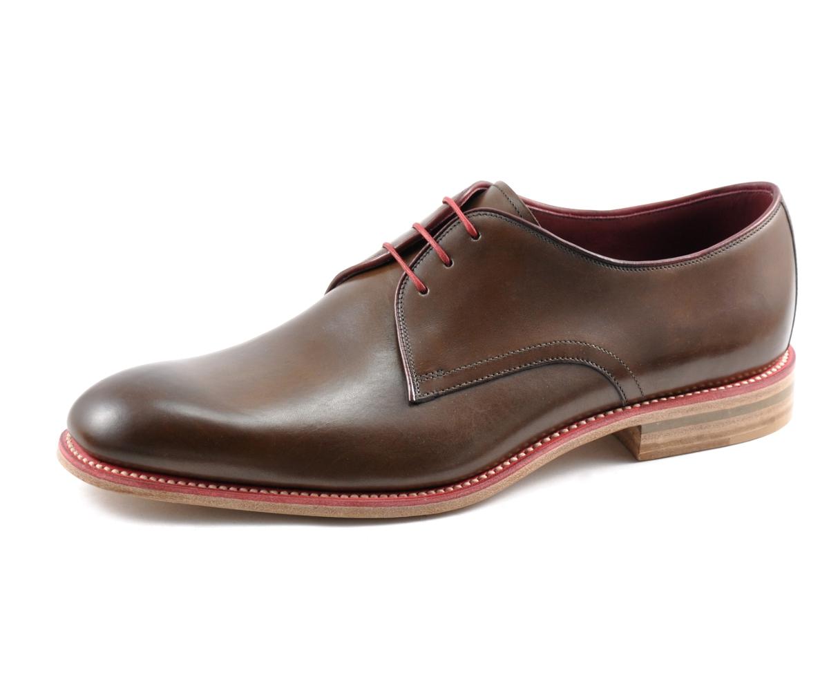 Loake Drake Plain Derby Shoe Dark Brown