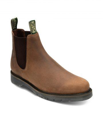 Loake McCauley Men's Chelsea Boots Brown Nubuck